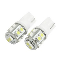 2 Pcs T10 W5W White 10 3528 1210 SMD LED Car Side Wedge light Lamp Bulb