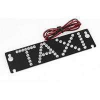 Auto Windscreen Cab Sign Rectangular Blue LED Taxi Light w Suction Cup