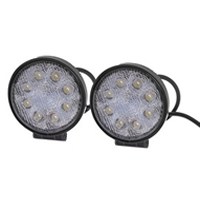 2 Pcs 4.5Inch 6000K 24W 8 LED Spot Beam Work Light Fog Driving Lamp for Offroad ATV SUV Jeep