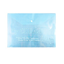 Office School Soft Plastic Document Paper Files Storage Bag Clear Blue
